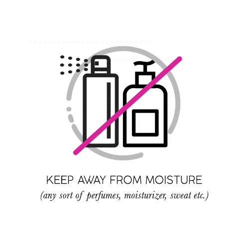 Keep away from moisture