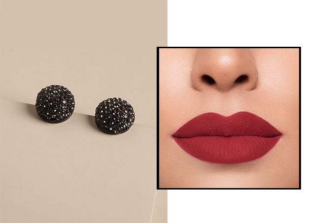black-frances-top-earrings---red-lips